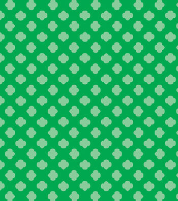 "Girl Scout Cotton Fabric 43""-Green Trefoil"