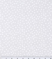 Keepsake Calico Cotton Fabric 44''-White Irregular Dots on White, , hi-res