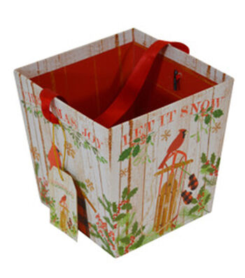 Maker's Holiday Wood Open Bin-Cardinal