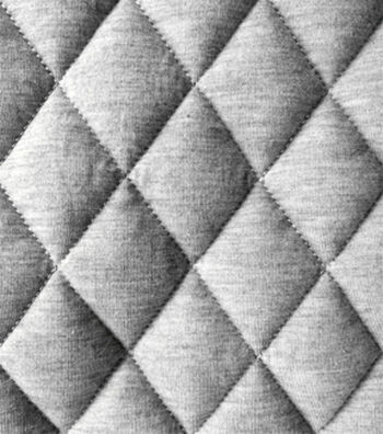 "Varsity Club Quilted Knit Fabric 55""-Grey"