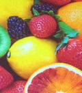 Novelty Cotton Photo Real Fabric 44\u0022-Assorted Fruits