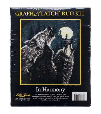 """Latch Hook Kit 30""""X32""""-In Harmony"""