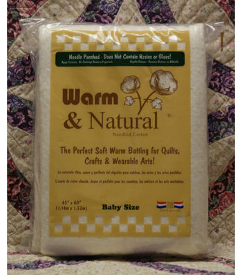 "The Warm Company Warm And Natural Cotton Needled Batting 45""x60"""