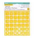 Darice® 6\u0027\u0027x6\u0027\u0027 Reusable Self-Adhesive Stencil-Uppercase Alphabet