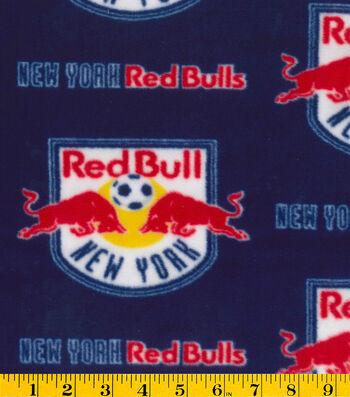 "New York Red Bulls Fleece Fabric 58""-Logo"