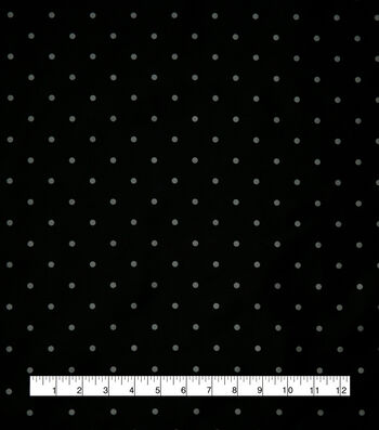 "Anti-Static Lining Fabric 58""-White on Black Dots"