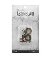 Tim Holtz® Assemblage Pack of 6 Flat Toggles Clasps, , hi-res