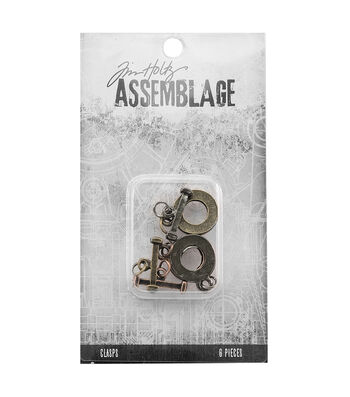 Tim Holtz® Assemblage Pack of 6 Flat Toggles Clasps
