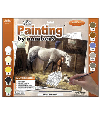 """15-3/8""""x11-1/4"""" Adult Paint By Number Kit-New Friends"""