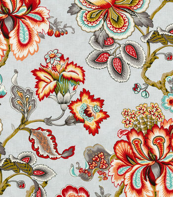 """HGTV Home Upholstery Fabric 54""""-Bespoke Blossoms Mineral"""