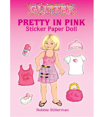 Dover Publications-Pretty In Pink Sticker Paper Doll Book