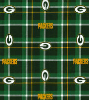 "Green Bay Packers Flannel Fabric 42"" - Plaid, , hi-res"