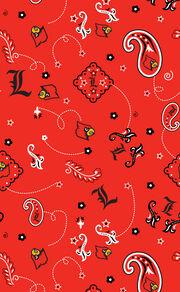 "University of Louisville Cardinals Cotton Fabric 43""-Bandana, , hi-res"