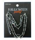 hildie & jo™ Halloween 18\u0027\u0027 Silver Necklace-Gray Beads