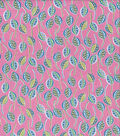 Jules & Coco Quilt Fabric-Leaves Pink