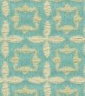Waverly Upholstery Fabric-Stardust/Aquamarine