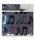 DCWV Home Designer Wall Vanity Adhesive Decorative Mirrors-Music Notes