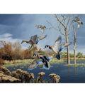 Novelty Cotton Fabric Panel 44\u0022-Wood Ducks In Autumn