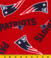 "New England Patriots Fleece Fabric 58""-Red, , hi-res"