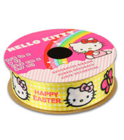 Hello Kitty® Easter Ribbon-Yellow Plaid, , hi-res