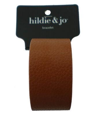 hildie & jo Buckle Bracelet-Silver & Tan