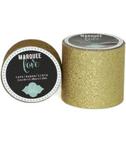 "Heidi Swapp Marquee Love Washi Tape .875""-Gold Glitter, 10', , hi-res"