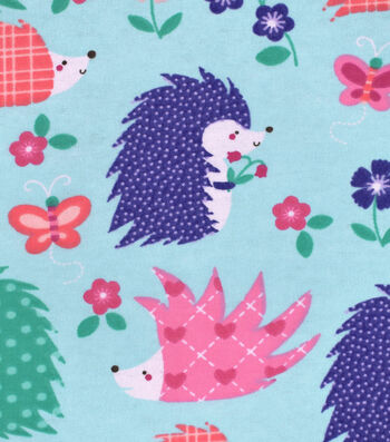 Snuggle Flannel Fabric 42''-Happy Hedgehogs