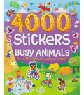 Parragon 4000 Stickers-Busy Animals