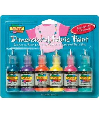 Scribbles Dimensional Fabric Paint 1 Ounce-Iridescent