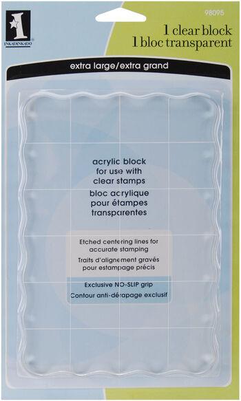 "Inkadinkado Clear Acrylic Block-4.5""X6.5""X.5"""