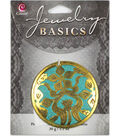 Jewelry Basics1pc Metal Accent Gold/Turquoise Deco by Cousin