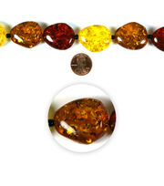 Blue Moon Strung Faux Amber Beads,Nugget,Light & Dark Amber, , hi-res