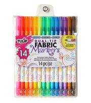 Tulip® Dual-Tip Fabric Markers 14PK, , hi-res