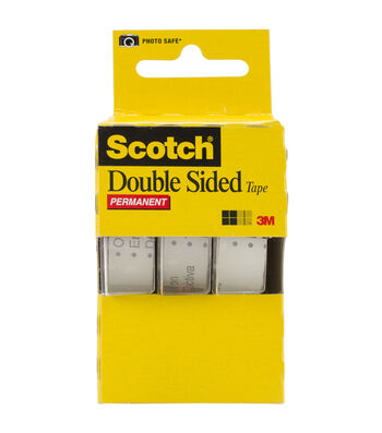 Scotch Permanent Double-Sided Tape-3/Pkg