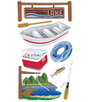 Jolee's Boutique Le Grande Dimensional Sticker-Lake Activities, , hi-res