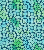 "Keepsake Calico™ Cotton Fabric 43""-Teal Kalediscope Blender, , hi-res"
