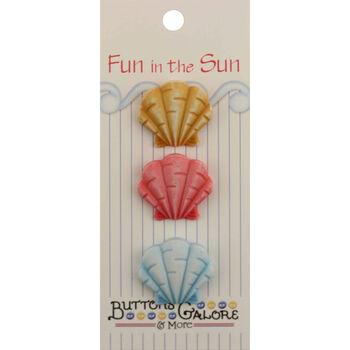 Fun In The Sun Buttons-Fan Shells