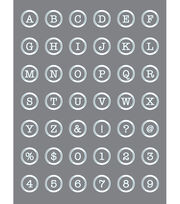 DecoArt® Americana® Mixed Media Stencil-Button Alphabet, , hi-res