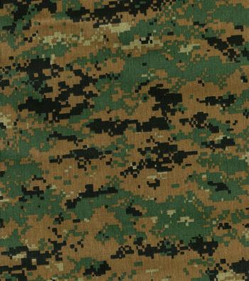 """Camouflage Shirting Fabric 60""""-Woodland"""