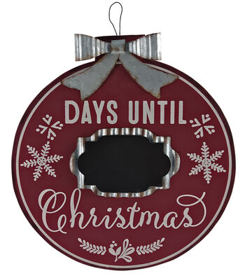 Maker's Holiday Christmas Wooden Wall Hanging-Days Until Christmas