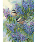 Dimensions Gold Collection Chickadees & Lilacs Counted Cross Stitch Kit