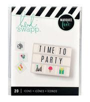 Heidi Swapp Marquee Love 20 pk Lightbox Inserts-Party, , hi-res