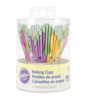 Wilton 24ct Baking Cups-Petal Shape With Peeps, , hi-res
