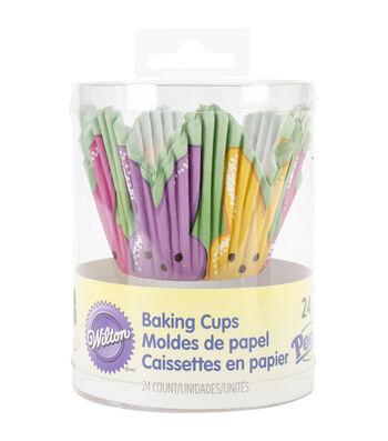 Wilton 24ct Baking Cups-Petal Shape With Peeps