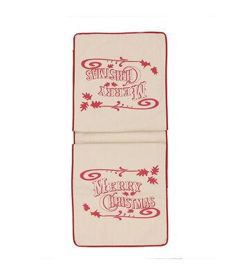 3R Studios Christmas 72''x14'' Cotton Table Runner-Merry Christmas