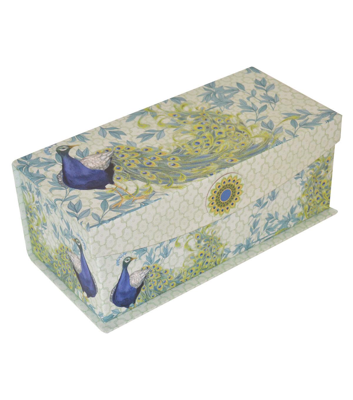 Organizing Essentialsu0026#8482; Medium Flip Top Box Peacock Plums