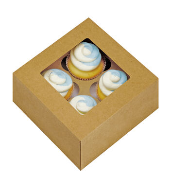"Cupcake Window Boxes 6.25""X6.25""X3"" W/Inserts"
