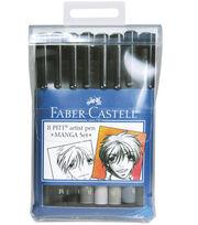 Manga Pitt Artist Pens 8/Pkg, , hi-res