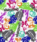 Goosebumps Fleece Fabric 59\u0022-Monsters & Icons Splatter