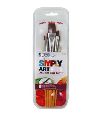 Simply Art Paintbrush & Palette Pack 5/Pkg